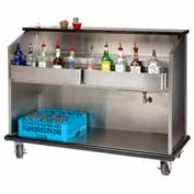 "Portable Bar 60"" Enclosed Storage w/ S/S Doors"