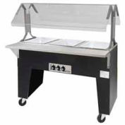 Portable Solid Top Buffet Table, (2) Pan Size, Black