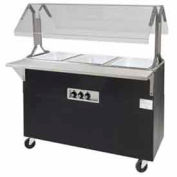 "Portable Buffet Table, Electric, (3) 12"" x 20"" Wells, 208V, Solid Base"