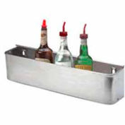 "Bottle Rack, 14"", Single Tier Keyhole, S/S"