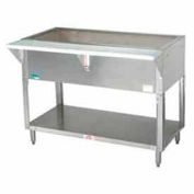 "Coldpan Table, 31.812""L 2-Pan Size, S/S Open Base w/Undershelf"