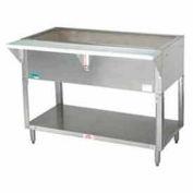 "Coldpan Table, 47.125""L 3-Pan Size, S/S Open Base w/Undershelf"