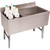 Combo Ice Chest, Coldplate, 21X47, Storage Rack On Left, 35/119 lbs Ice Cap