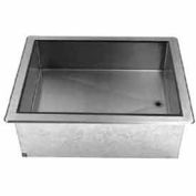 Cold Food Well Unit, Drop-In, Ice Cooled, (3) Pan Size