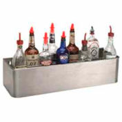 "Bottle Rack, 46"", Double Tier Keyhole, S/S"