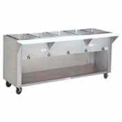 "Food Table, Natural Gas, 77.750""L (5) 12X20 Wells, S/S Cabinet Base"