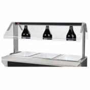 """Heat Lamp Assembly (Installed), For 62.375""""LUnit, Black Finish"""