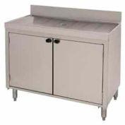 Slimline Drainboard, Modular, 48X18, Open Cabinet Base w/Doors