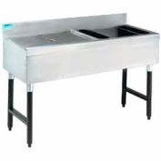 Ice Bin/Cocktail Station, 18X48, w/Right Drainboard, w/Cold Plate, 75Lbs Ice Cap