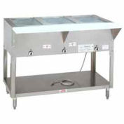 """Water Bath Hot Food Table, Natural Gas, 31.812""""L (2)12X20 S/S Cabinet Base"""