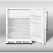 Summit AL650LFR - ADA Comp Freestanding Refrigerator-Freezer, Cycle Defrost, White Exterior