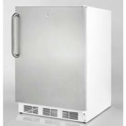 Summit AL750LSSTB ADA Comp Freestanding Refrigerator 5.5 Cu. Ft. White/Stainless Steel