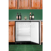 Summit ADA Comp Built in Undercounter Refrigerator 5.5 Cu. Ft. Black/Stainless Steel