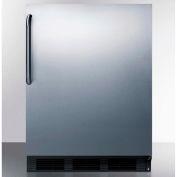 Summit FF7BBISSTBABA ADA Comp Built in Undercounter Refrigerator 5.5 Cu. Ft. Black/Stainless Steel