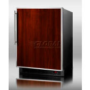 Summit BI605BFFFR - Built-In Refrigerator-Freezer, Auto Defrost, Black, S/S Doorframe