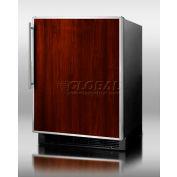 Summit BI605BFR - Built-In UC Refrigerator-Freezer, Manual Defrost, SS Door Frame, Custom Panels, BK