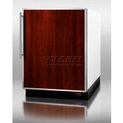 Summit BI605FFFR - Built-In Refrigerator-Freezer, Auto Defrost, White, Digital TSTAT, S/S Doorframe