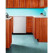 Summit BI605RSSVH - Refrigerator-Freezer, Built-In, Manual Defrost, White, Stainless Steel Door