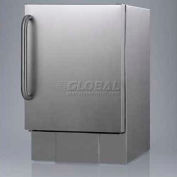 Summit BIM24OS - Outdoor Icemaker For Built-In Use, In Complete S/S With Towel Bar Handle