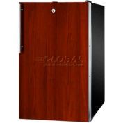 "Summit CM421BLBI7IF - 20""W Built-In UC Refrigerator-Freezer, Lock, Int. Door Frame, BK Finish"