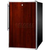 """Summit FF521BLBI7FR - 20""""W Built-In Undercounter All-Refrigerator, Lock, S/S Door Frame"""