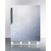 Summit FF61DPLADA ADA Comp Freestanding All Refrigerator 5.5 Cu. Ft. White/Diamond Plate