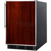 Summit FF6B7FRADA - ADA Comp Freestanding All-Refrigerator, Black, S/S Door Frame For Slide-In