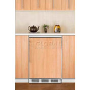 Summit FF6BIFR Built In Undercounter All Refrigerator 5.5 Cu. Ft. White