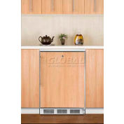 Summit FF6LBIFR Built In Undercounter All Refrigerator 5.5 Cu. Ft. White