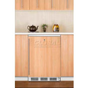 Summit FF6LBIIF Built In Undercounter All Refrigerator 5.5 Cu. Ft. White