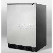 Summit FF7BSSHH Freestanding All Refrigerator 5.5 Cu. Ft. Black/Stainless Steel