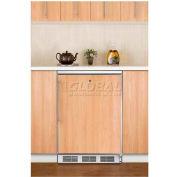 Summit FF7LBIFR Built In Undercounter All Refrigerator W/Lock 5.5 Cu. Ft. White