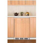 Summit FF7LBIIF Built In Undercounter All Refrigerator W/Lock 5.5 Cu. Ft. White
