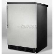 Summit FF7LBLSSHV Commercial Built In-Freestanding Refrigerator 5.5 Cu. Ft. Black/Stainless Steel