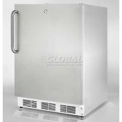 Summit  Commercial Built In Undercounter Refrigerator W/Lock 5.5 Cu. Ft. Stainless Steel