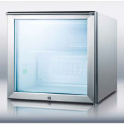 "Summit FS20LGL7CSS - Compact All-Freezer, Glass Door, Stainless Steel, 1.6 Cu. Ft., 20"" x 20"" x 20"""