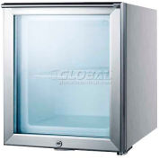 "Summit FS20LGLCSS7 - ""Cube"" Shaped Compact All-Freezer, Glass Door, S/S, Front-Mounted Lock"