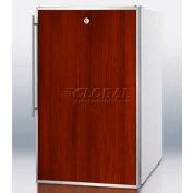 """Summit FS407LFRADA - ADA Comp 20""""W All-Freezer, -20°C Capable, Lock, S/S Door Frame, WH"""