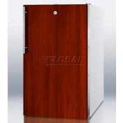 "Summit FS407LIF - 20""W Counter Height All-Freezer, -20°C Capable, Lock, Int. Door Frame, White"