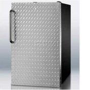 "Summit FS408BLBIDPL - 20""W Built-In UC All-Freezer -20°C W/ Lock, Diamond Plate Door"