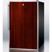 "Summit FS408BLBIFR - 20""W Built-In Undercounter All-Freezer, -20°C, Lock, S/S Door Frame, Black"