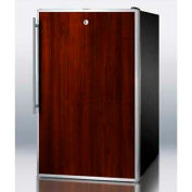 "Summit FS408BLBIFRADA - ADA Comp 20""W Built-In Undercounter Freezer -20°C, Lock, S/S Door Frame"