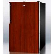 "Summit FS408BLBIIF - 20""W Built-In UC All-Freezer -20°C , Lock, Int. Door Frame, BK"