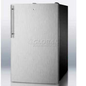"Summit FS408BLBISSHV - 20""W Built-In Undercounter All-Freezer, -20°C Capable, Lock, Black"