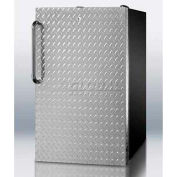 "Summit FS408BLDPLADA - ADA Comp 20""W All-Freezer -20°C Capable, Lock, Diamond Plate Door, Black"