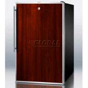 "Summit FS408BLFRADA - ADA Comp 20""W All-Freezer, -20°C Capable, Lock, S/S Door Frame, BK"