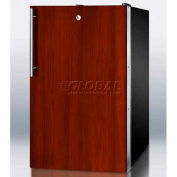 "Summit FS408BLIF - 20""W Counter Height All-Freezer, -20°C Capable, Lock, Int. Door Frame, Black"