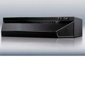 "Summit H1630B - 30""W Convertible Range Hood For Ducted Or Ductless Use, Black Finish"