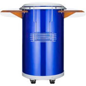 "Summit PCC50BLUE - Round Beverage Refrigerator With ""Blue"" Ice Bank"