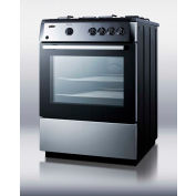 "Summit PRO24G - Slide-In  Range, Gas, 4 Burners, 2.55 Cu. Ft., Spark Start, 24"" x 23-1/4"" x 36"""
